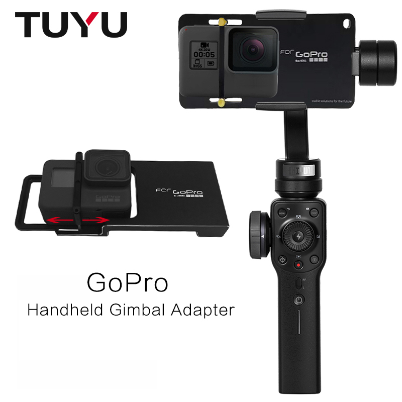 Go Pro Handheld Gimbal Adapter for DJI Osmo Zhiyun Smooth Q Smooth C Smooth 4 Feiyu SPG G5 for Gopro 4 5 6 Yi 4k AEE SJ7 Camera grille