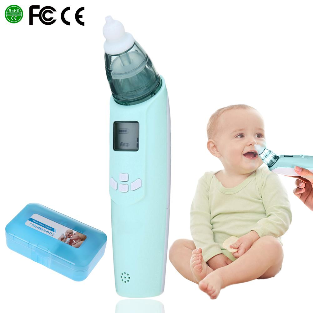 Newest Baby Safety Electric Nasal Aspirator Safe Hygienic Nose Snot Cleaner Suction For Newborn Infant Toddler Blue and Pink