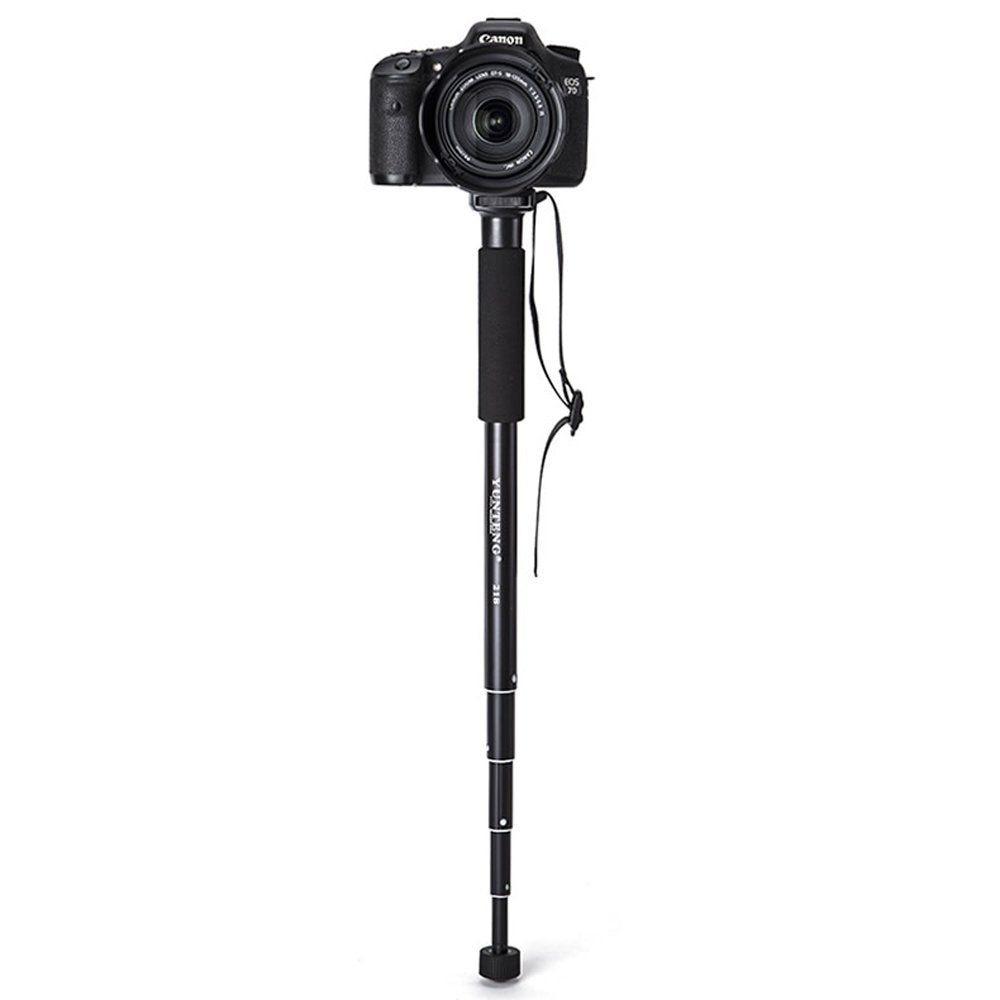 Yunteng YT-218 Extendable 5 Section Aluminium Monopod Unipod for Canon Nikon Pentax Sony A7 A7R A7S DSLR DV