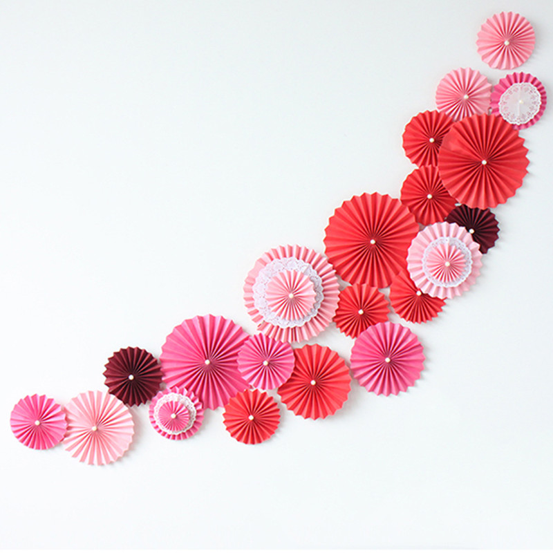 "Paper Tissue Fan Christmas Decorations By Pearl And Earl: 10pcs/lot 12""(30cm)Tissue Paper Fan Flower For Mariage"
