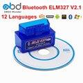 Melhor Preço Bluetotoh ELM327 V2.1 ELM 327 OBD2 Scanner Código leitor de Apoio 7 Protocolos OBDII ELM327 OBD Carro De Diagnóstico De Digitalização ferramenta