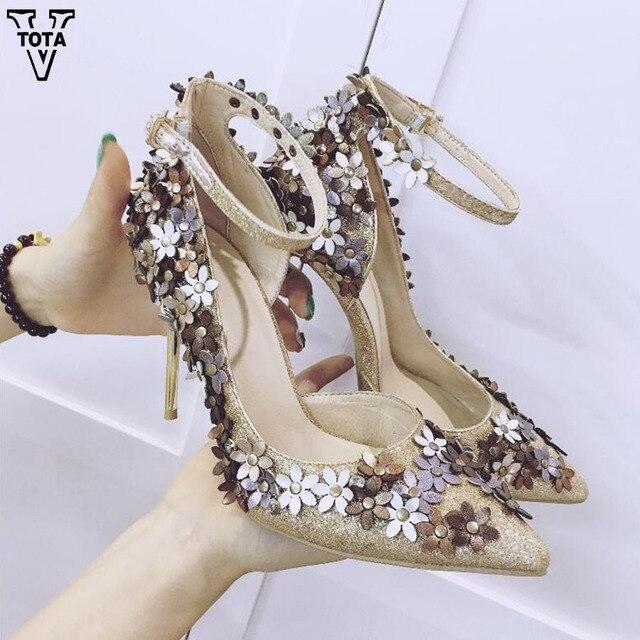 VTOTA High Heels Brand Women Pumps Fashion Shoes Woman Pointed Toe Women's Shoes High Heel Ladies Thin Heel Shoes FC14