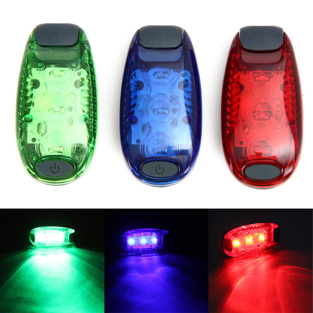 Super Bright 3 LED Bike Light Taillight Safety Warning Bicycle Rear Lamp 3 Modes Mountaineering Backpack Helmet Running Lights
