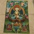 Тибетские статуи Будды Nepal thangka портреты из вышитой парчи золотой шелк вышивка Гуаньинь старая вышивка танка Avalokit