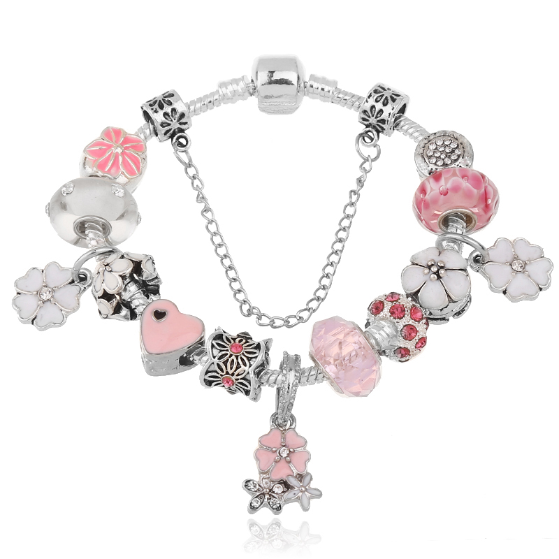 2016 Fashion Jewelry Pink Tortoise charm Bracelets & Bangless
