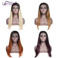 Ombre синтетические волосы на кружеве натуральные волосы Искусственные парики цвет 1B/#27 #30 #350 # 99J бразильский волосы remy Искусственные парики д