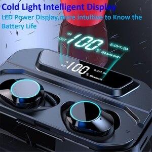 Image 3 - G02 TWS Bluetooth אוזניות 5.0 אלחוטי Bluetooth אוזניות 9D סטריאו מוסיקה אוזניות מגע בקרת LED תצוגת 3300mAh כוח בנק