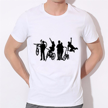 Design Creative Cool Novelty Funny Boy Tshirt White Soldier Silhouette Men T Shirt Style Men Women Print Fashion Tee 45N-2#