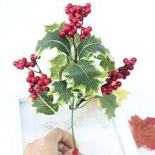 Flone искусственные рождественские красные ягоды имитация красные фрукты ягоды цветок ветка пена фрукты дерево Свадебные домашние вечерние DIY Декор