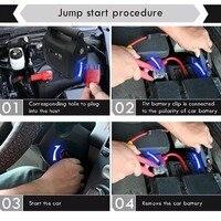 30000mAh Car Jump Starter Multi Function Mini Portable Size Emergency Battery Charger Car Jump Starter Booster Power Bank