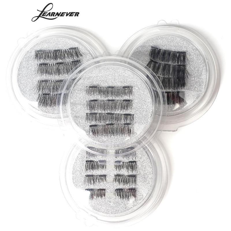 LEARNEVER Soft Hair Individual Eyelashes Natural Long Thick 3D Magnetic False Eyelashes Extension Beauty Makeup Kits