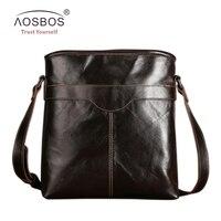 2016 Fashion New Arrived Brand 100 Genuine Leather Male Bag Men Messenger Bag Top Quality Vintage