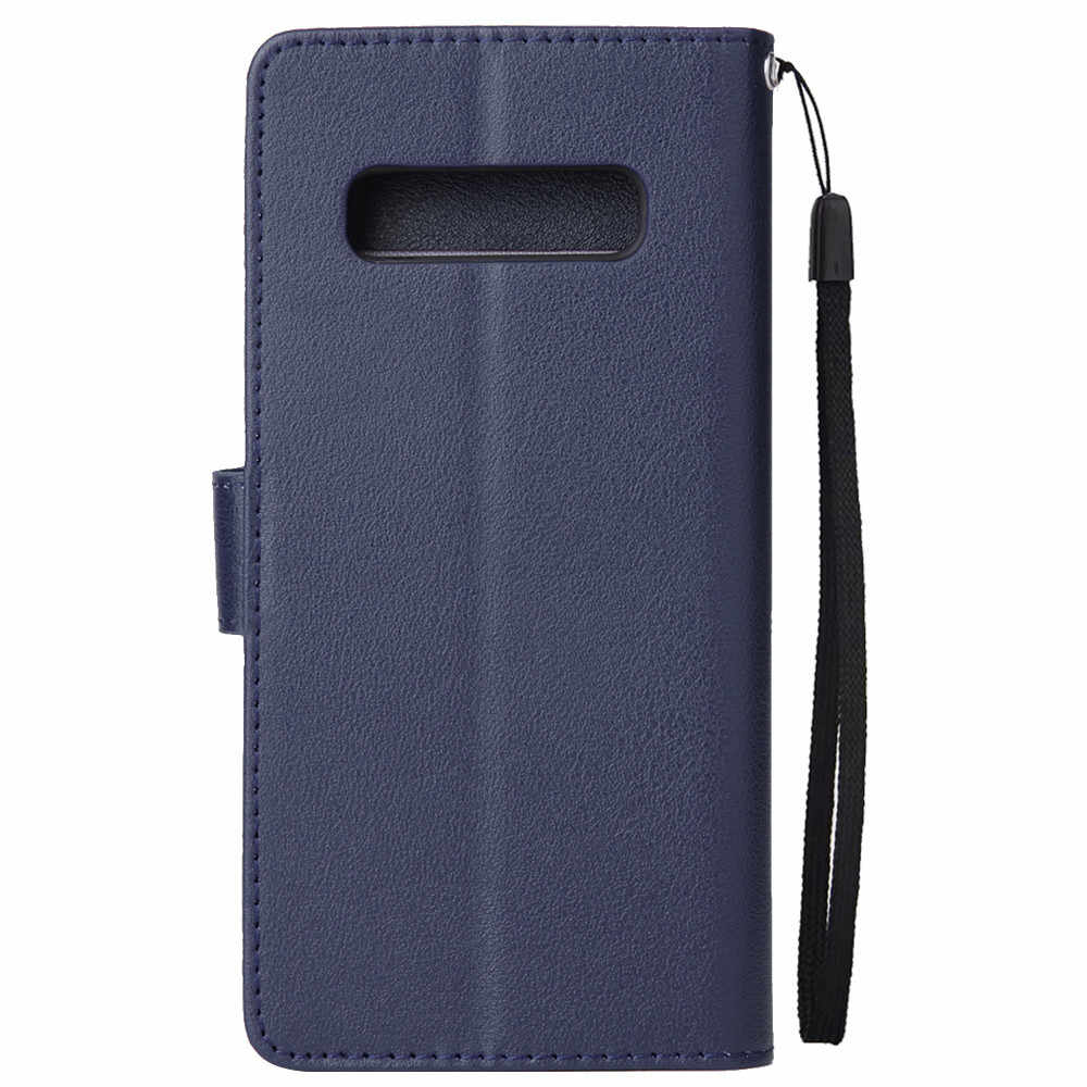 لسامسونج غالاكسي S10 فليب محفظة جلدية بطاقة حامل حالة غطاء 6.1 بوصة دروبشيبينغ Mar16
