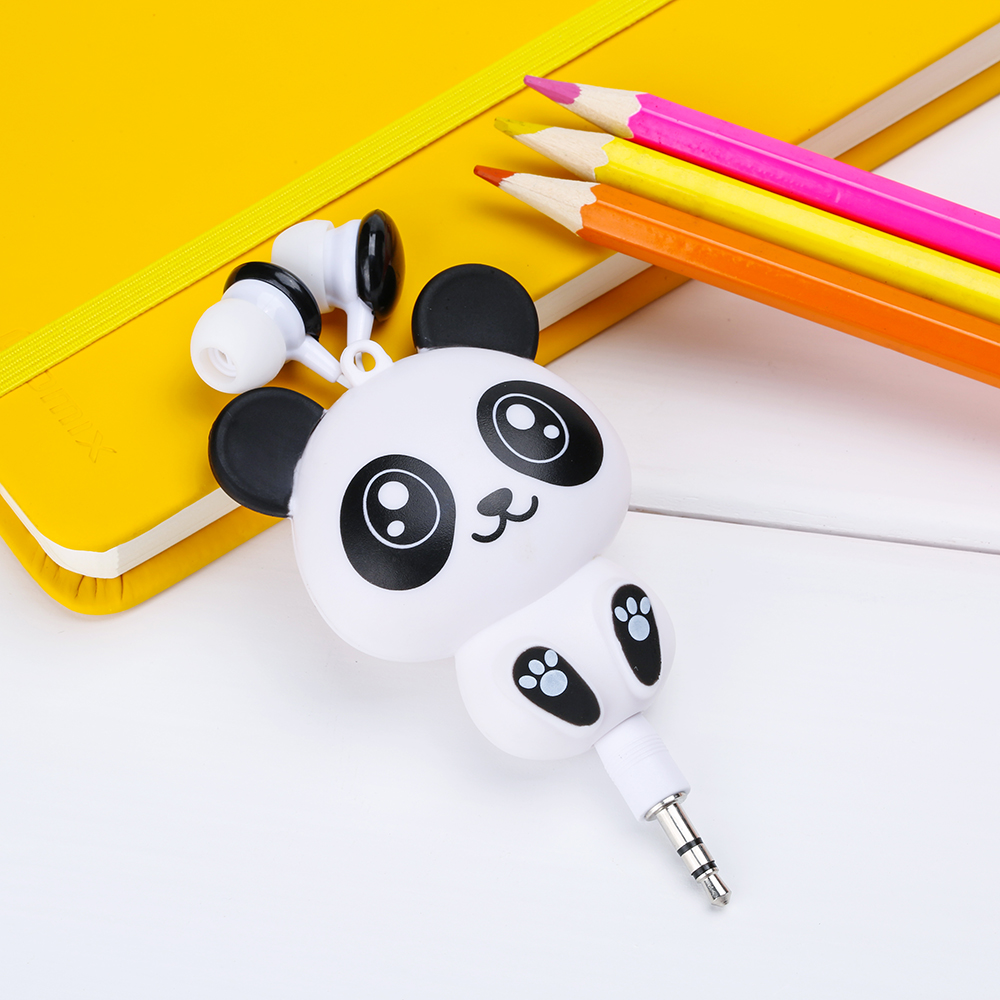 FFFAS Cute Kawaii Cheese Cat bear Panda Cartoon Retractable MP3 MP4 Earphone for Samsung HTC Xiaomi for IPhone 5 5s 6 6s plus cute cartoon cat claw style in ear earphones for mp3 mp4 more blue white 3 5mm plug