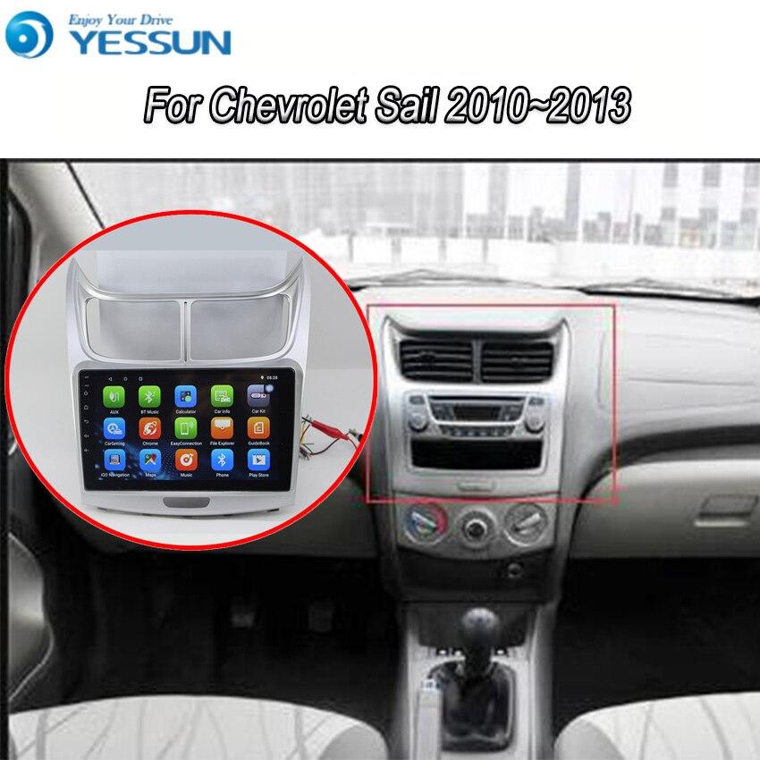 Yessun pour CHEVROLET SAIL 2010 ~ 2013 Android 8.0 système de lecteur multimédia autoradio stéréo GPS Navigation Audio vidéo