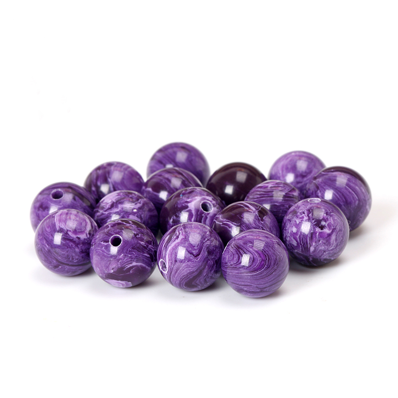 Aladdin 5Pcs/Lot New Charoite synthetic crystal Round Noble mystery purple diy beads spacers gasket Elegant jewelry lacunal Gift