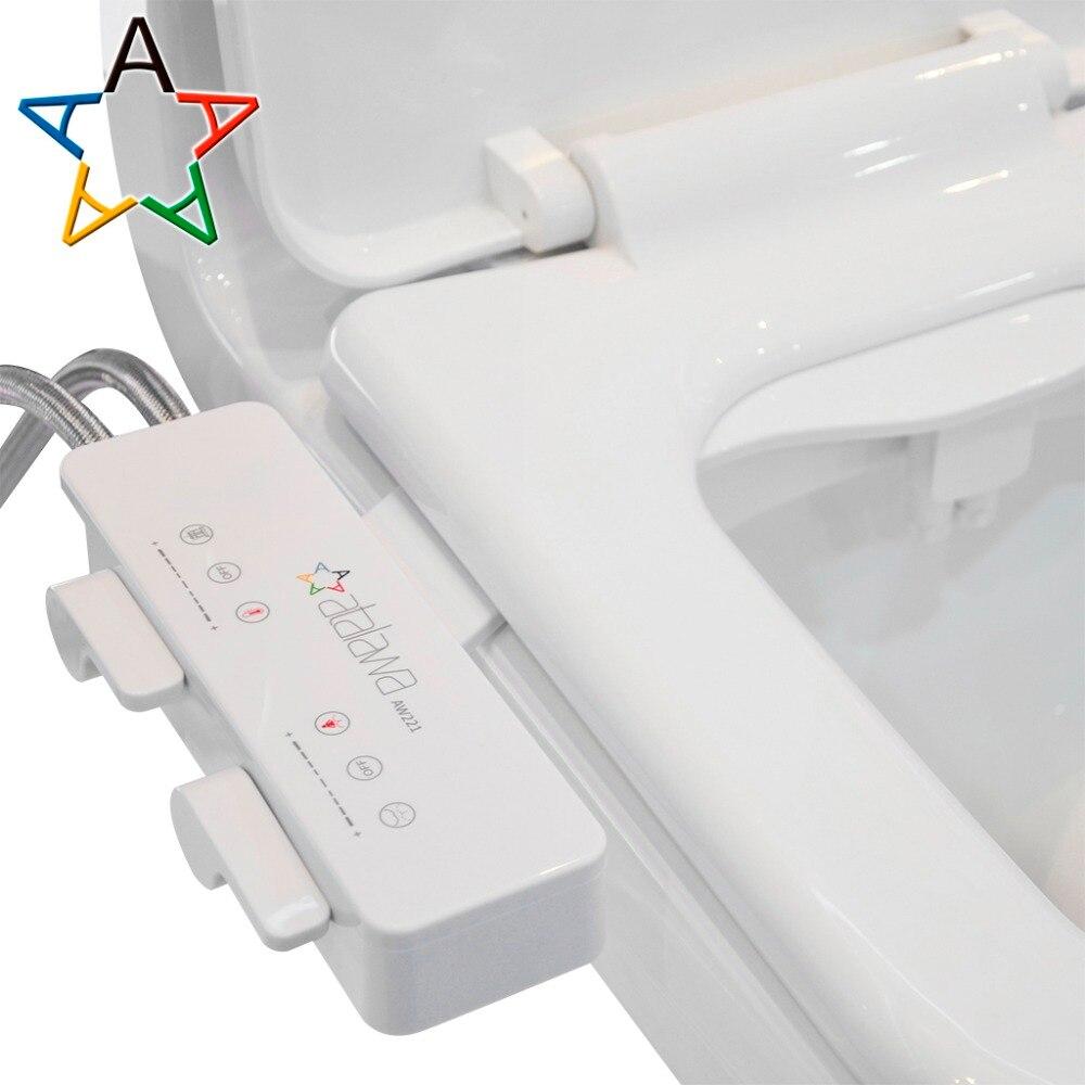 Atalawa Dünne Design Nicht-Elektrische Mechanische Bidet Befestigung mit Dual Selbst Reinigung Düse für Wc Sitz, frische Wasser Sprayer