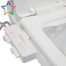 Atalawa тонкий дизайн-Электрический механический биде крепления с двойной самоочищающийся сопла для унитаза, пресной воды опрыскиватель