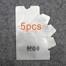 5 шт. Анти Rfid кошелек блокировки Reader замок банк держатель для карт Id банковской карты защиты корпуса Металл кредитной держатель для карт алюминия