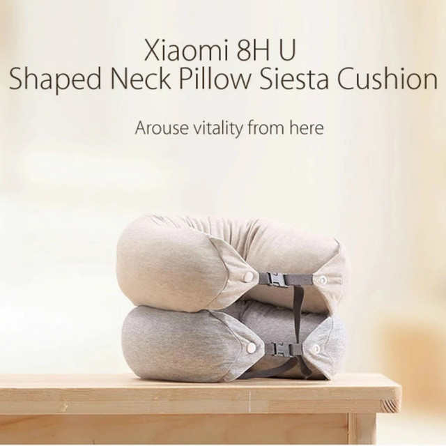 Original Xiaomi 8H U Shape Memory Foam Neck Pillow Antibacterial Portable Travel 8H Eyes Mask Cushion Lunch Break Pillows 4