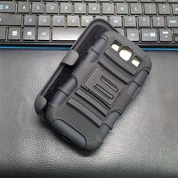 Robot Armor Hard Smartphone Case For Samsung Galaxy S5 With Belt Clip Holster Android Case For