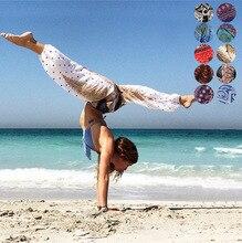 Women Yoga Pants Summer Autumn Indian Nepal High Waist  Loose Hippie Wide Leg Female Trousers Beach Travel Leisure