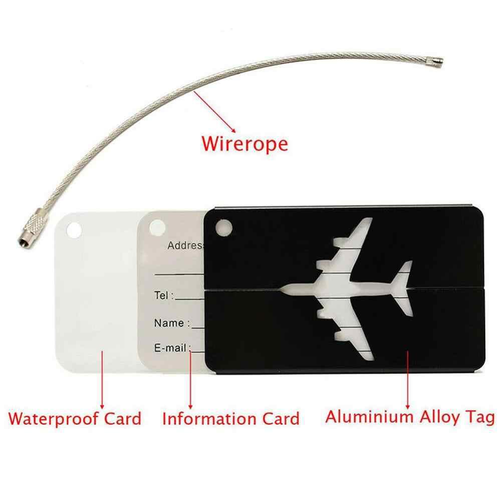 1Pcs อลูมิเนียมกระเป๋าเดินทางกันน้ำ: Travel Party กระเป๋าเดินทางกระเป๋าแท็ก ID ที่อยู่ป้ายสัมภาระอุปกรณ์เสริม