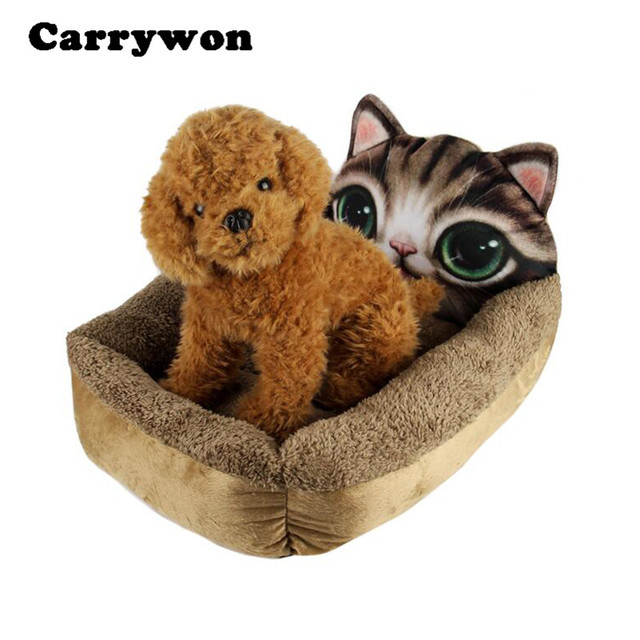 carrywon dog house cute cartoon pet kennel 3d animal realistic pattern print soft cat house bed