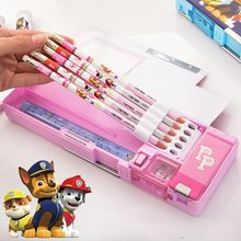 Deli Kawaii Cartoon Pencil Case School Stationery Student Plastic Pen Storage PVC Multifunction Box