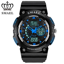 New SMAEL Sport Watches For Young Men Cool Swimming Wristwatches Dual Time LED Digital Watch Men Clock relogio masculino WS1539