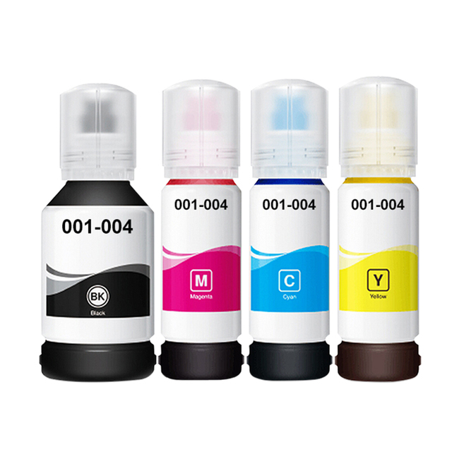US $20 3 |Aomya 4 Colors BK/C/M/Y Dye ink refill kits Compatible For Epson  L3110/L3150/L4150/4160/6160/6170/6190 inkjet printer-in Ink Refill Kits