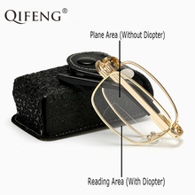 Bifocal Reading Glasses Folding Men Women Foldable Presbyopic Eyeglasses Male Female +1.0+1.5+2.0+2.5+3.0+3.5+4.0 QF263
