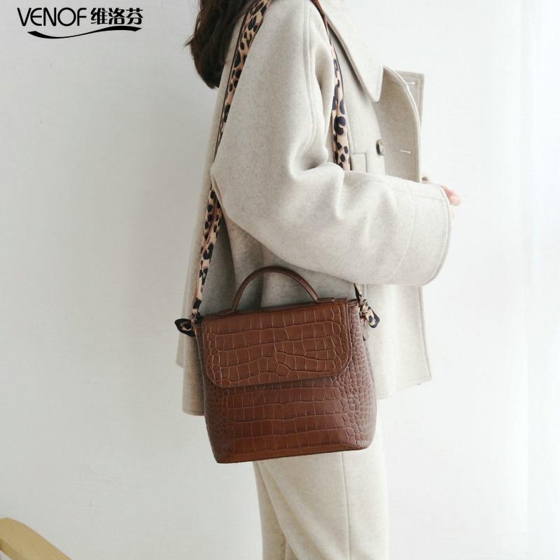 Vintage genuine leather bucket bag scarves wide straps Shoulder bag for women fashion luxury designer leather crossbody bag 2019