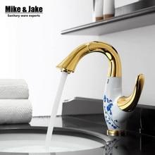 Роскошный золотой латуни раковина кран pull out золотой раковины ванной комнаты кран латунный кран torneira banheiro бронзовый золотой керамический кран
