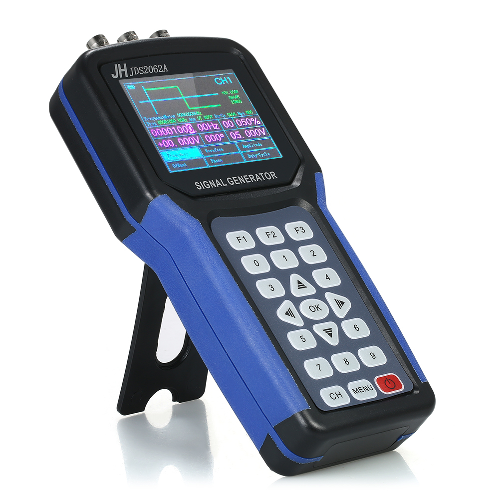 Handheld 2 Channel Digital Signal Generator Portable Frequency Sweep Meter 30MHz Output 2CH 3 2 TFT