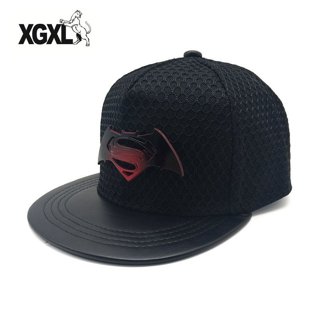 eff5916d24a02 2018 metal negro Batman gorra de béisbol SnapBack sombreros para hombres  mujeres verano casual deportes al