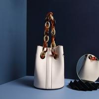 Witfox Resin chain bucket women fashion european luxury handbags women bags designer sac a main femme de marque luxe cuir