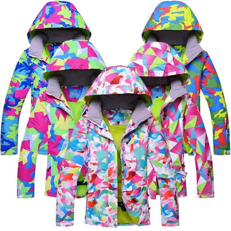 RIVIYELE 2019 veste de Ski femme vêtements de Ski imperméable coupe-vent veste de Snowboard sports de plein air porter Ski Snowboard veste