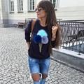 2016 Brand Hoodies Sweatshirt Women Female Plush Ball Ice Cream Printed Harajuku Streetwear Sudaderas Mujer Felpe