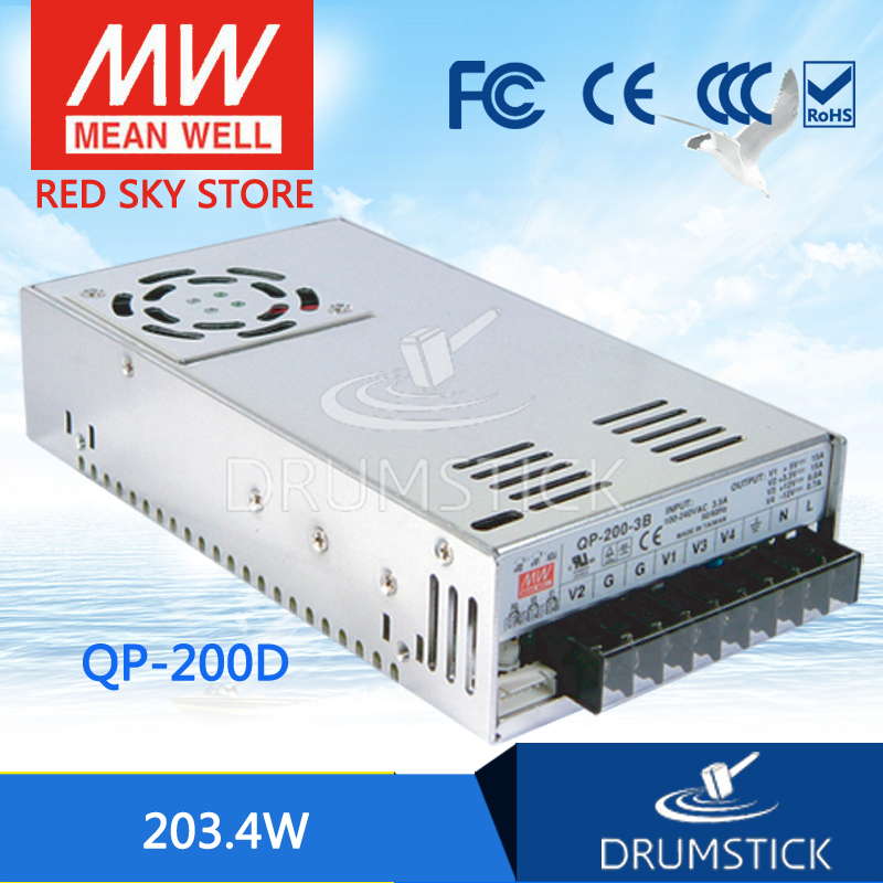 все цены на Hot sale MEAN WELL QP-200D meanwell QP-200 203.4W Quad Output with PFC Function Power Supply онлайн