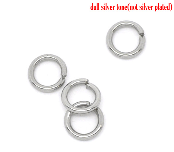 DoreenBeads Stainless Steel Open Jump Rings 5mm Dia. Findings,75 pc doreenbeads 400 pcs silver color double loops open jump rings 8mm dia findings b04161 yiwu