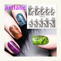 1 sheet Water Transfer Nail Art Sticker Decal Black Leaves 3D Print Manicure Tips DIY Nail Foils Decorations 147