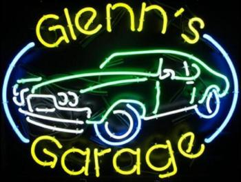 Custom GARAGE Glass Neon Light Sign Beer Bar