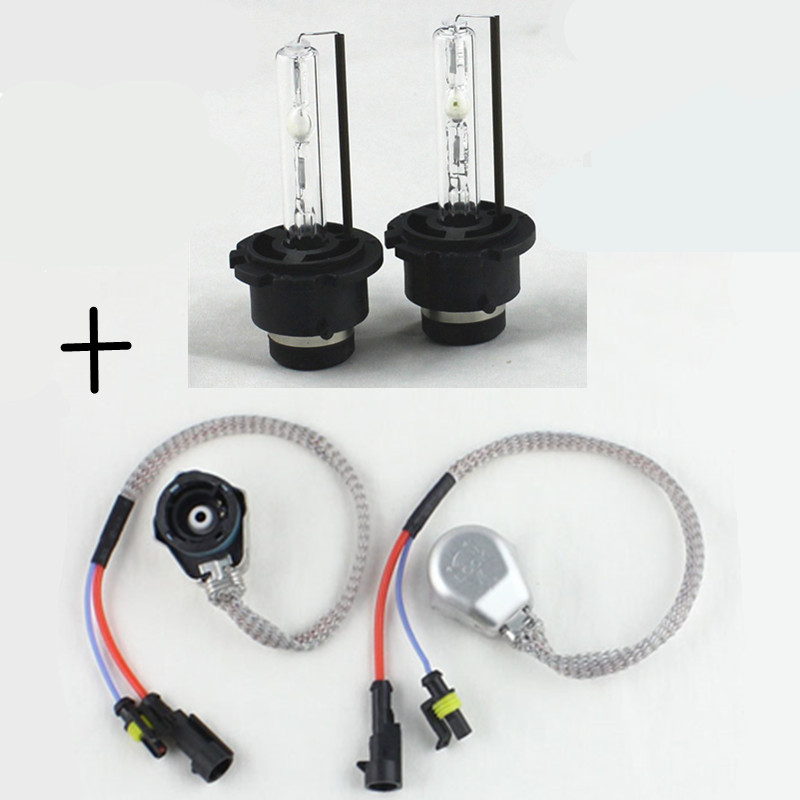 D2S D2C HID xenon headlight bulb + D2 AMP HID Wiring Harness cable AC 35W Car D2S D2C HID Xenon headlight DRL fog light gztophid wiring harness extension h4 9003 hb2 light connector male to female for socket headlight fog light drl light