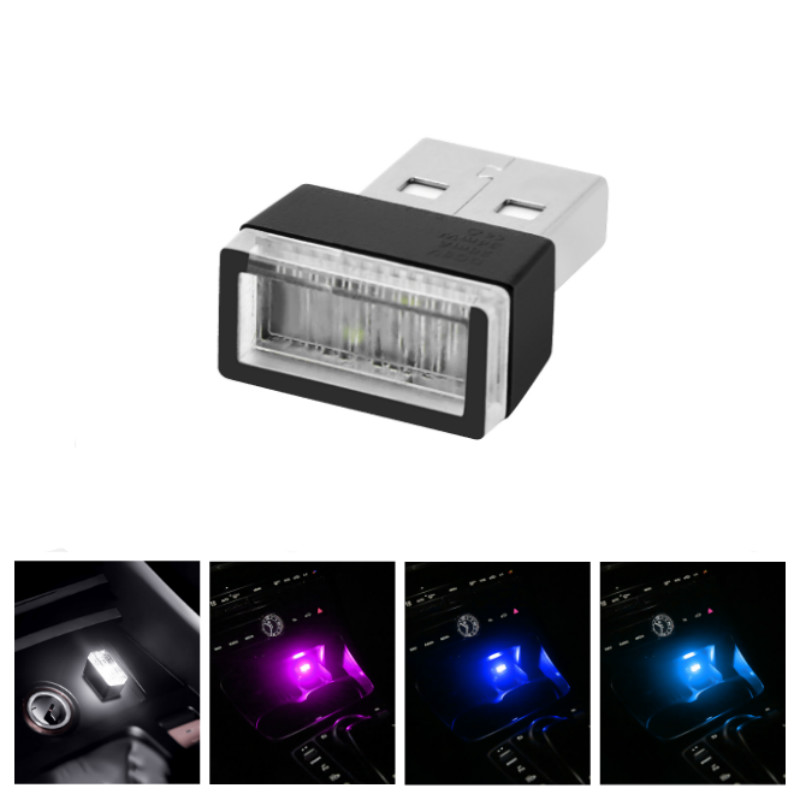 Car USB <font><b>LED</b></font> Atmosphere <font><b>Lights</b></font> Decorative Lamp For <font><b>Peugeot</b></font> 206 407 207 406 208 <font><b>3008</b></font> 2008 306 301 106 107 607 5008 807 205 405 image