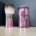 Cantidad limitada de Maquillaje Marca Cute Pink Blush Powder Cepillos Brocha Kabuki Maquillaje Flojo Pinceaux Portátil Retráctil