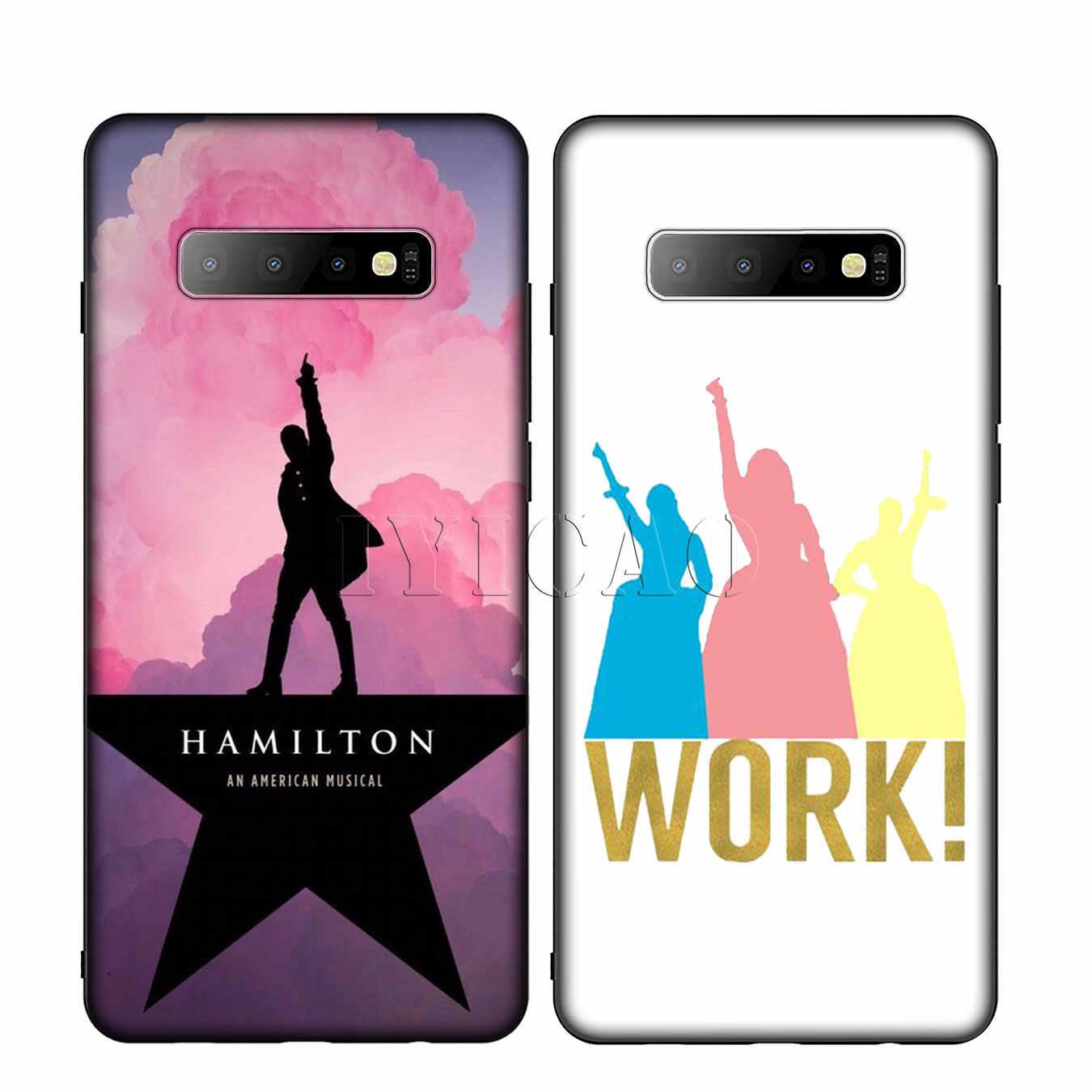 IYICAO Hamilton Âm Nhạc Lời Bài Hát Silicone Mềm Điện Thoại Trường Hợp đối Với Samsung Galaxy S10 S9 S8 Cộng Với S6 S7 Cạnh S10e E bìa