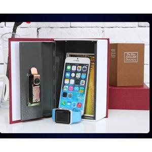 Libro de simulación de seguridad, caja de seguridad oculta, caja de seguridad para el hogar, dinero en efectivo, armario de joyas, caja de almacenamiento segura secreta con cerradura de llave