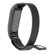 Bracelet For Fitbit Flex 2 Strap Milanese Magnetic Loop Stainless Steel Smart Band Accessories Adjustable Large Size Belt(China)