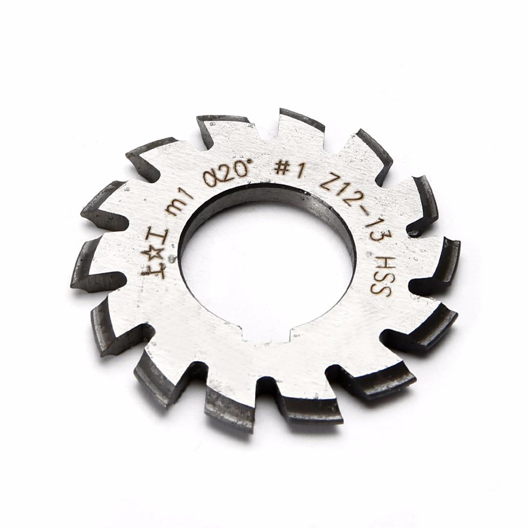 8pcs / set HSS Involute Cutters Set M1 PA20 20 Gear Cutters No 1-8 - Macchine utensili e accessori - Fotografia 4